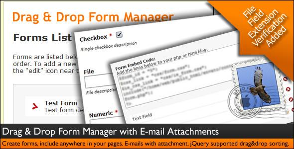 drag&drop form manager