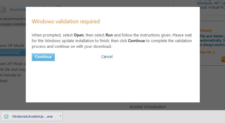Windows Validation Required - WindowsActivationUpdate.exe
