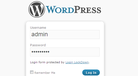 Login Lockdown WordPress plugin