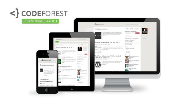 Codeforest responsive design