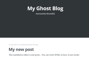 Ghost Blogging platform review