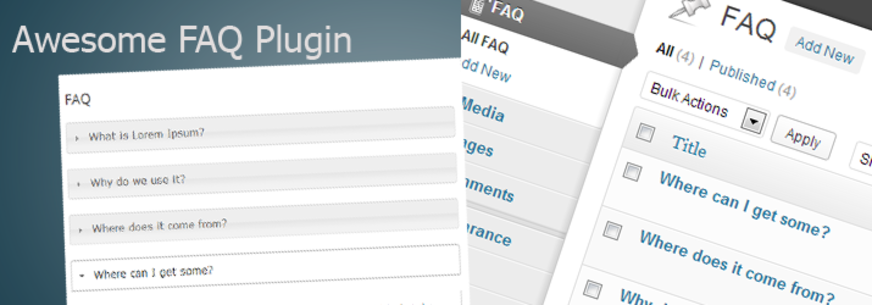 WordPress Plugin Custom FAQ Section