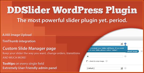 DDSlider WordPress plugin