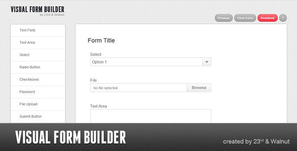 Visual form builder