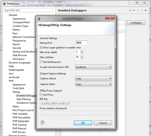 debugger-settings
