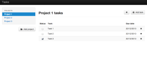 Tasks interface