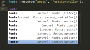 Laravel snippets in sublime text